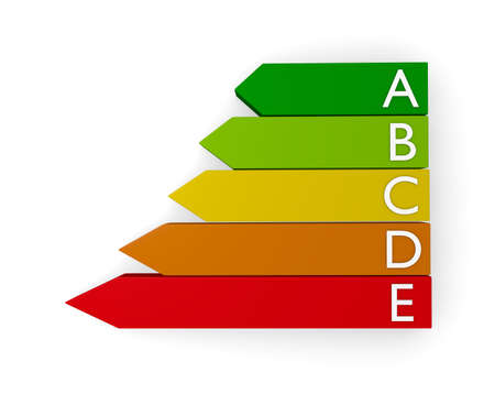kwh: Energy classification, 3d concept