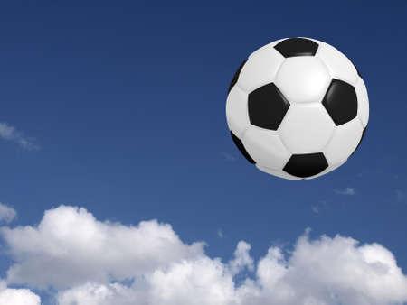 Soccer ball on a summer sky photo