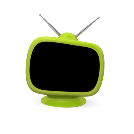 space television: Retro television with space for text, technology concept