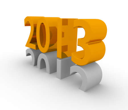 New Year 2013, 3d concept photo