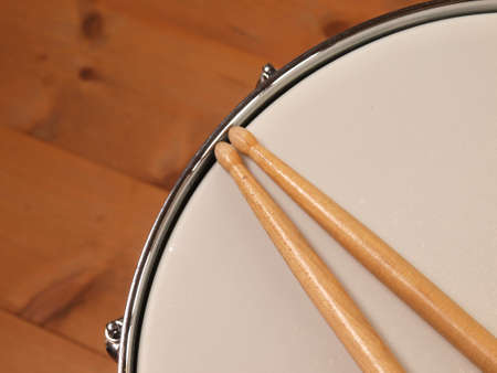snare: Detail of a snare drum