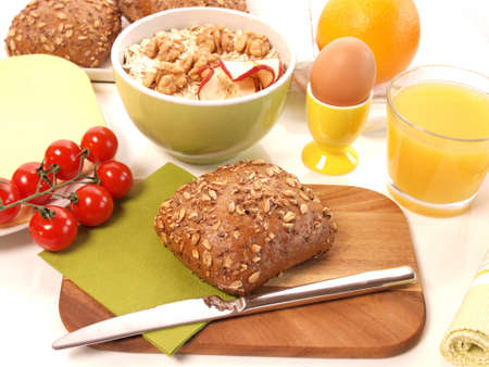 Breakfast, healthy food concept photo