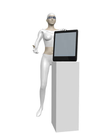 woman smartphone: Woman in white suit with a smartphone
