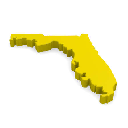 in god we trust: 3d map of Florida