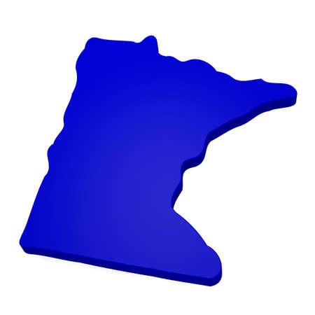 3d map of Minnesota Stock Photo - 17473399