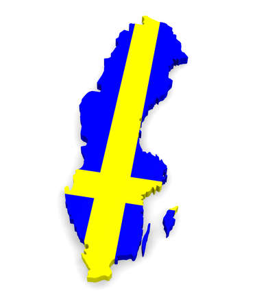 3d map of Sweden photo