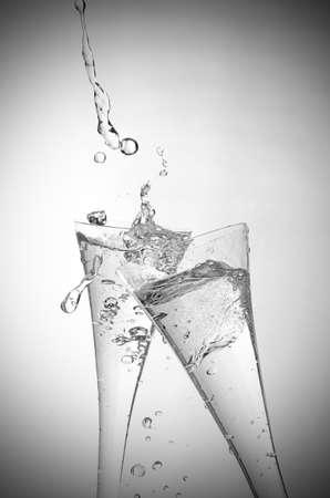celebration champagne: Two glasses of sparkling wine