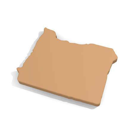 oregon coast: 3d map of Oregon