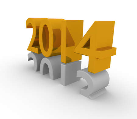 New Years 3d concept 2014 photo