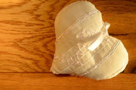 White heart shape photo