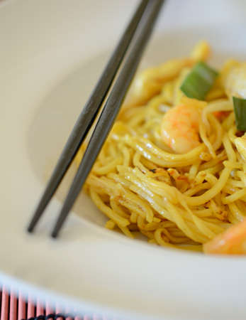 Close-up van Bami Goreng