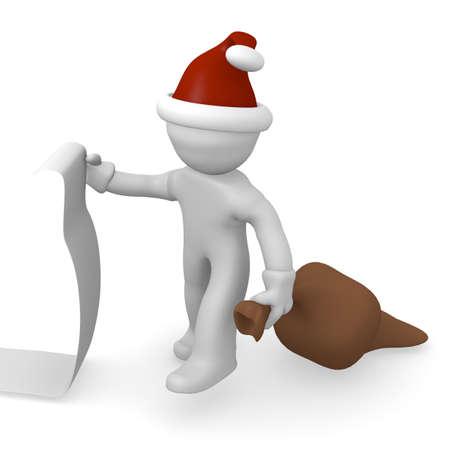 wishlist: Santa Claus with a long wishlist