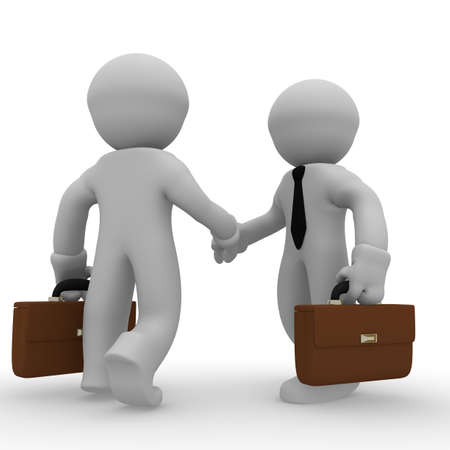 Shaking hands, business concept photo