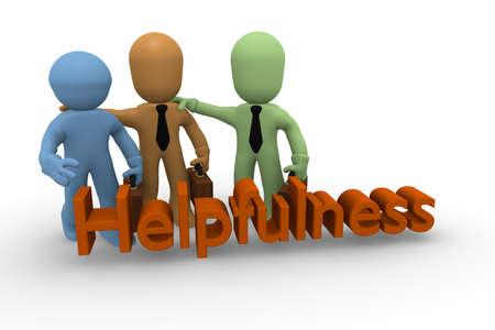helpfulness: Three Business man together strong, helpfulness