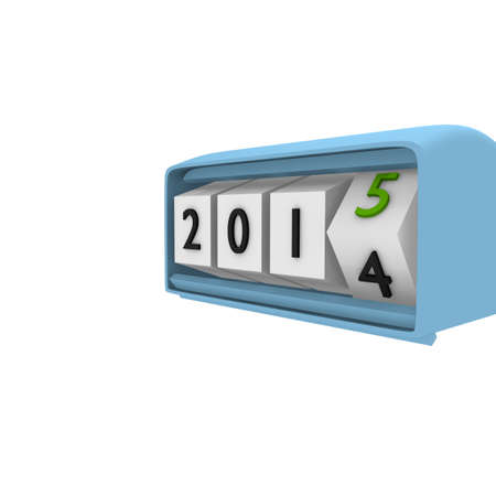 Retro clock with New Year 2015 Counter photo