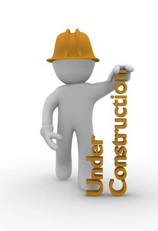 Under construction concept, 3d image photo