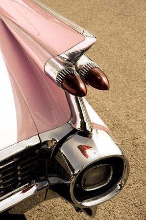 streamlined: Taillight of an old vintage car in retro image style