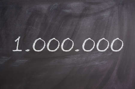 One million on a texture of a blackboard, business concept