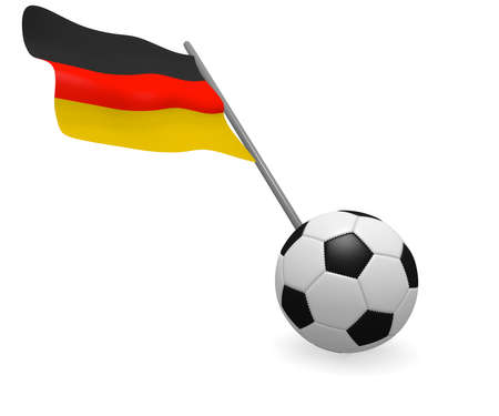Soccer ball with the flag of Germany on a white background Stock Photo