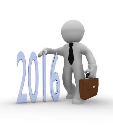 good business: Good business in 2016, 3d business concept Stock Photo