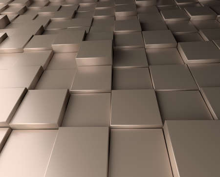 Modern abstract background with aluminum cubes