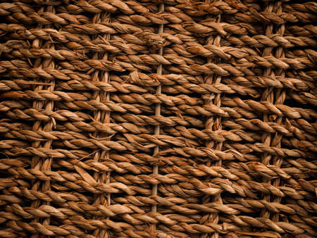 wicker work: Texture background of a seaweed basket with space for text or image