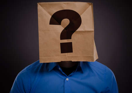 paperbag: Businessman with a paperbag on his head