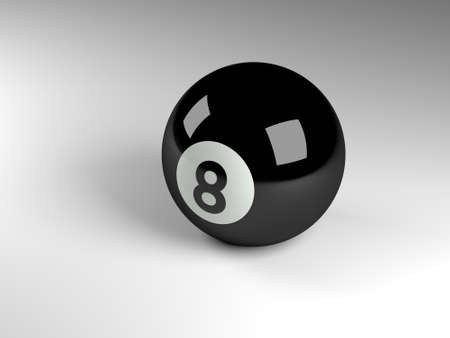 pool ball: 3d render of a black pool ball Stock Photo
