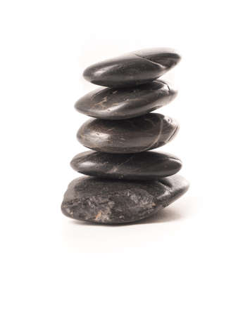 hot stones: Pile of hot stones on a white background