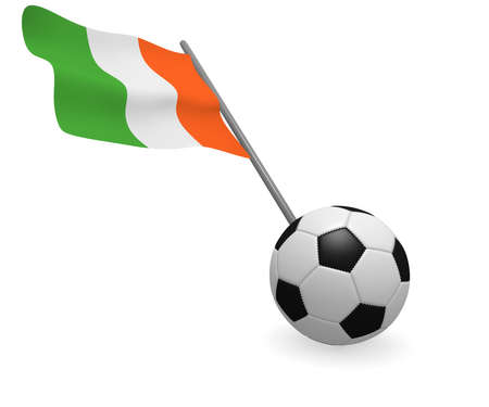 republic of ireland: Soccer ball with the flag of the Republic of Ireland Stock Photo