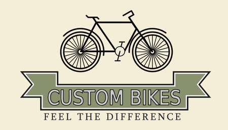 cruiser: Custom bikes, vintage styled company template vector illustration Illustration
