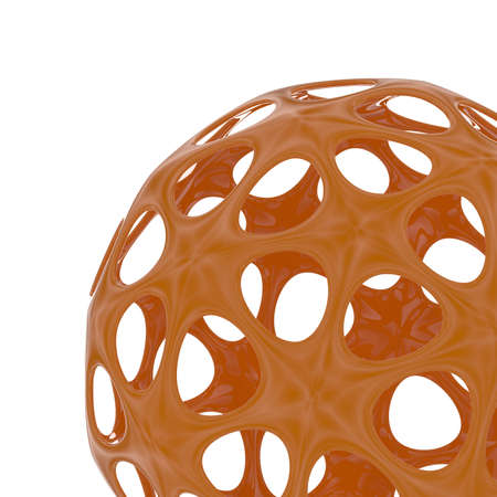 3d rendering of an abstract sphere on a white background Stock Photo