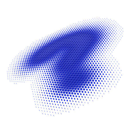 questionmark: Big blue question mark of dots on a white background, 3d rendering