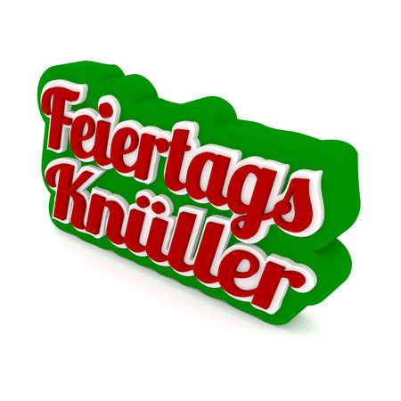 blockbuster: Funny German words of Christmas sale, 3d rendering Stock Photo