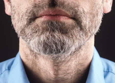 hairy: Close up of a man with a beard