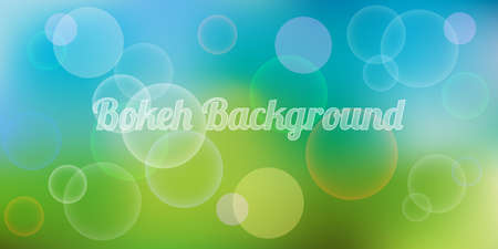 Seasonal bokeh background, springtime or summer blurred background, vector illustration. Vectores