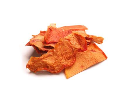 Dried organic papaya slices on a white studio background, healthy food concept Zdjęcie Seryjne