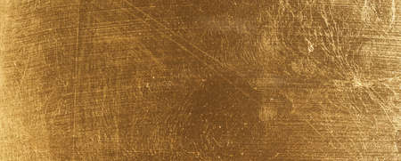 In gold painted wood texture using as luxury or festive background Reklamní fotografie - 130072737