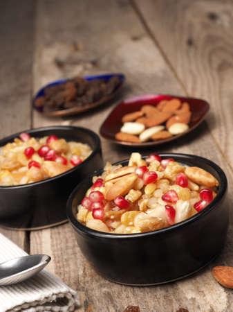 Traditional Turkish sweets Ashura Noahs pudding