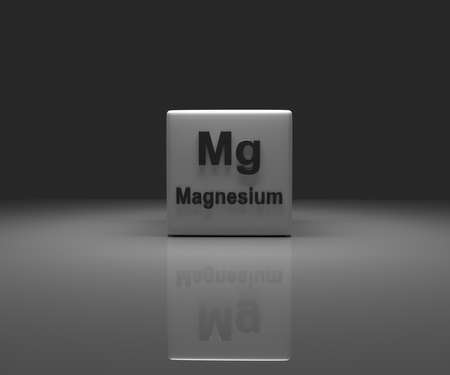 Cube with Magnesium periodic system, 3d rendering Stock fotó