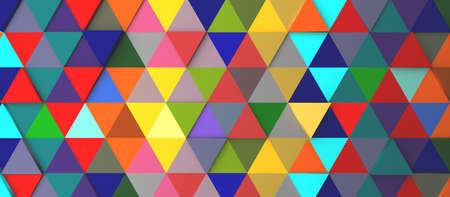 Abstract modern colorful triangle background, 3d rendering