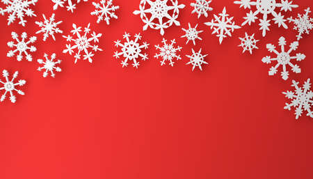 Modern puristic Christmas or winter background with space for text, 3d rendering