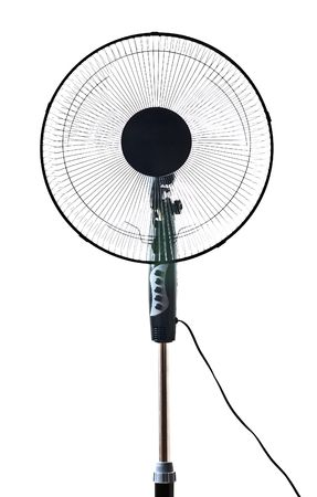 black office fan isolated on white Stock Photo - 5697525