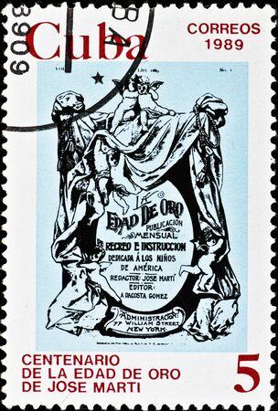 cherubs: vintage cuba postage stamp with cherubs