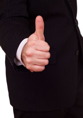 businessman approval gesture closeup Stock Photo - 6338908