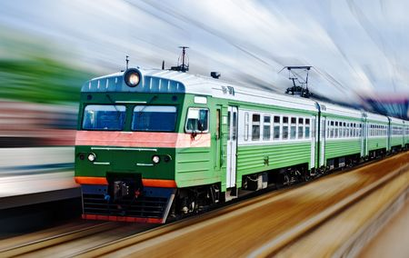fast passanger train, motion blur Stock Photo - 6724103