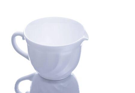 milk jug isolated on white background photo