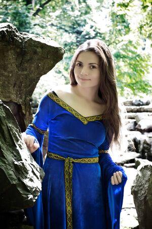 elf princess in between rocks Stock Photo - 7516888