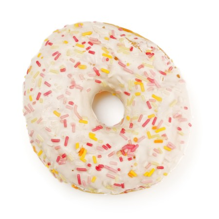 doughnut: sugar glazed donut, isolated on white