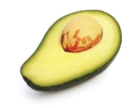 vitaminic: fresh avokado slice, white background